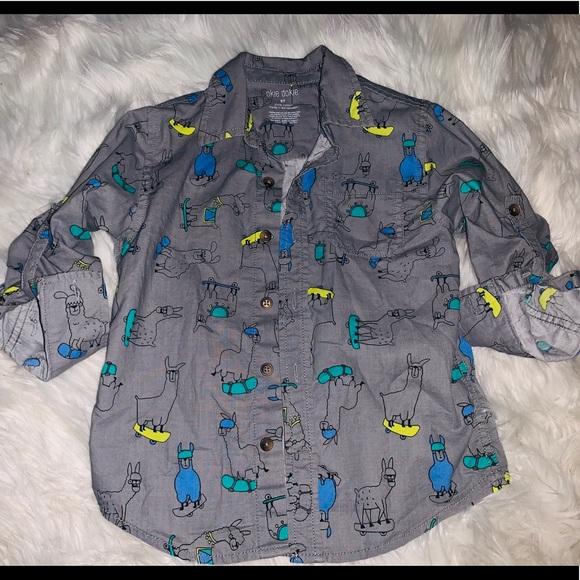 9a252e2793fb Okie Dokie 3/4 sleeve collared button down shirt. M_5c7c75c445c8b3efb41b9e86